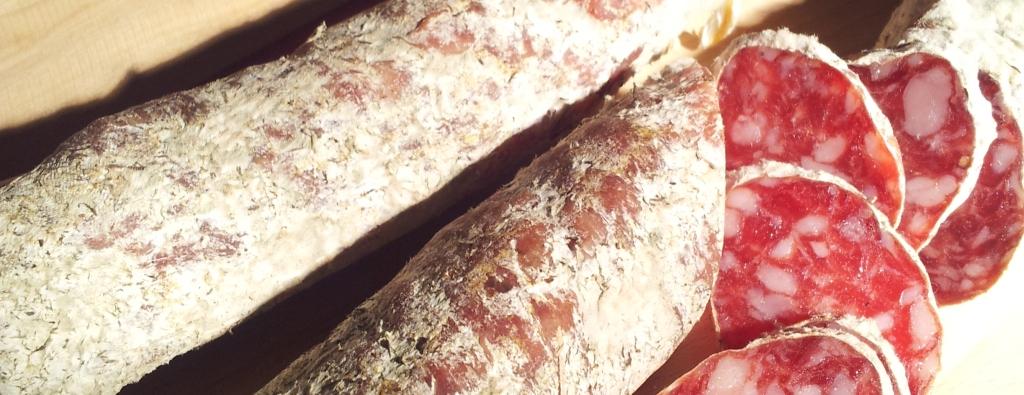 salumi salsiccia passita dal contadino